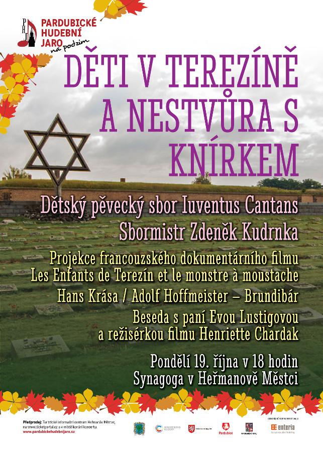 picture Děti v Terezíně a nestvůra s knírkem