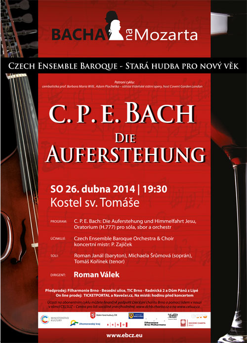 picture BACHA NA MOZARTA! / C.P.E. Bach: Die Auferstehung