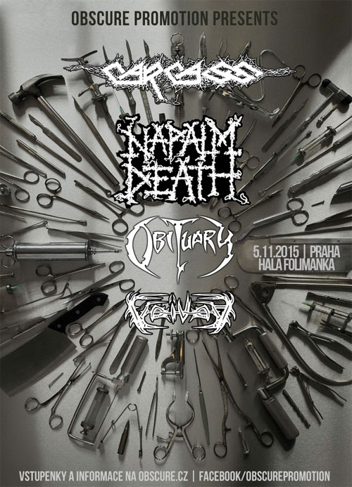 picture CARCASS - NAPALM DEATH - OBITUARY - VOIVOD