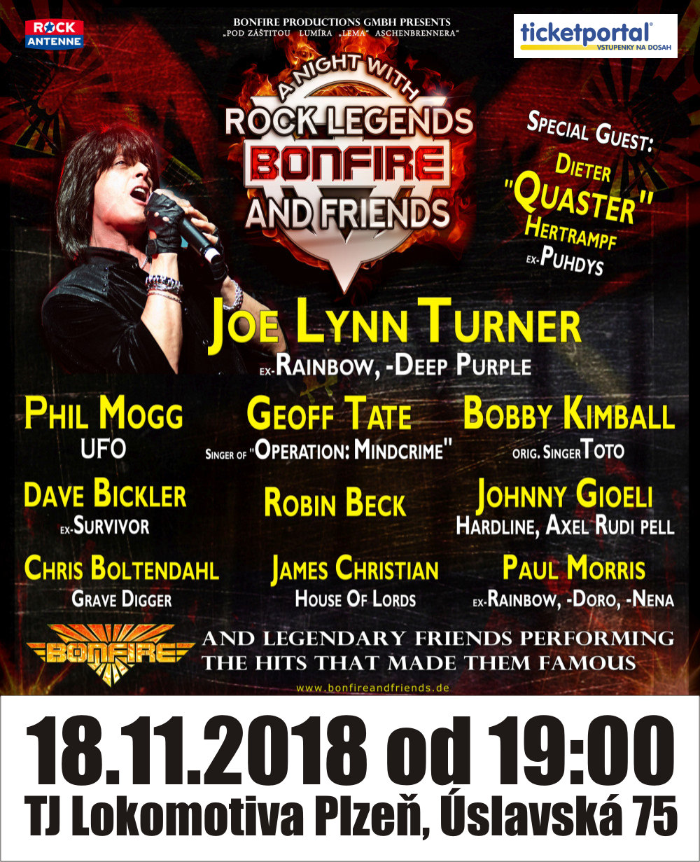 picture BONFIRE & FRIENDS, A Night With Rock Legends