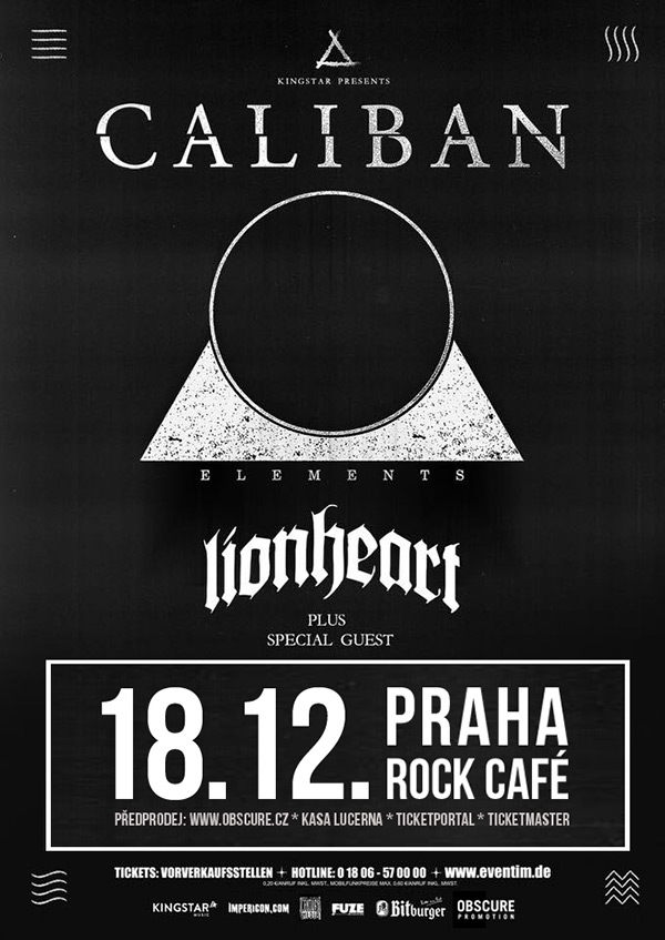 picture CALIBAN (DE) w/ LIONHEART (US)