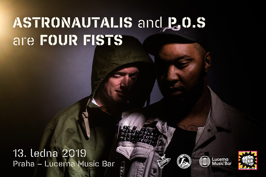 picture ASTRONAUTALIS and P.O.S are FOUR FISTS / US