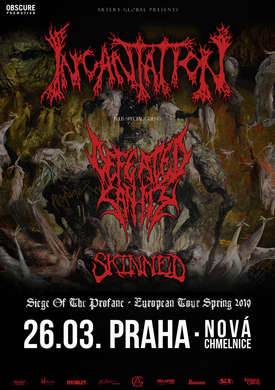 picture INCANTATION (USA) + DEFEATED SANITY (GER)