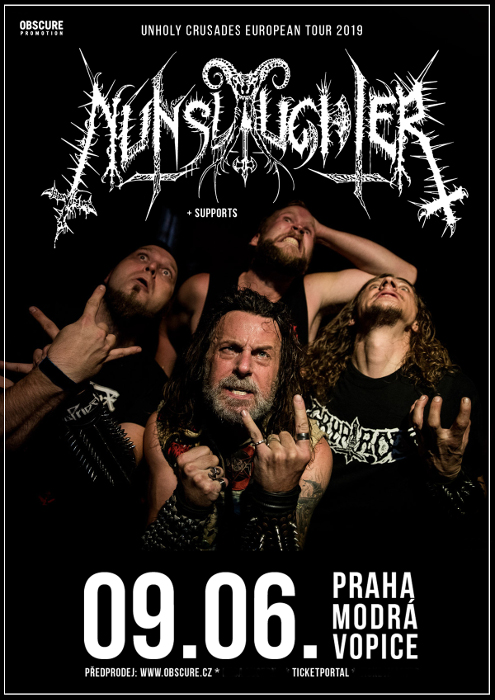 picture NUNSLAUGHTER (USA) + supports