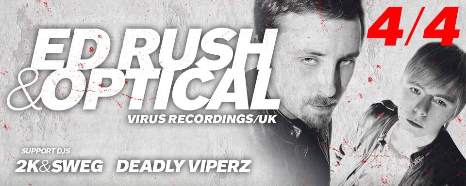 picture ED RUSH & OPTICAL (Virus Records/UK) @ ROXY