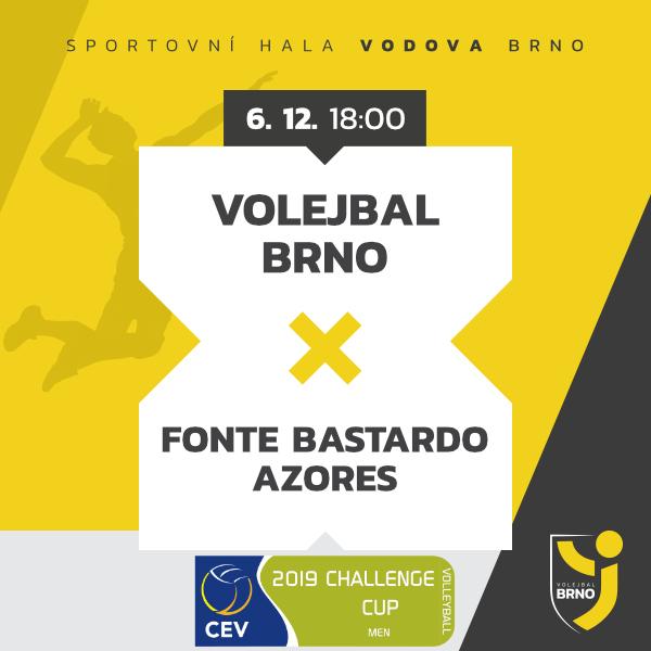 Volejbal Brno - Fonte Bastardo Azores