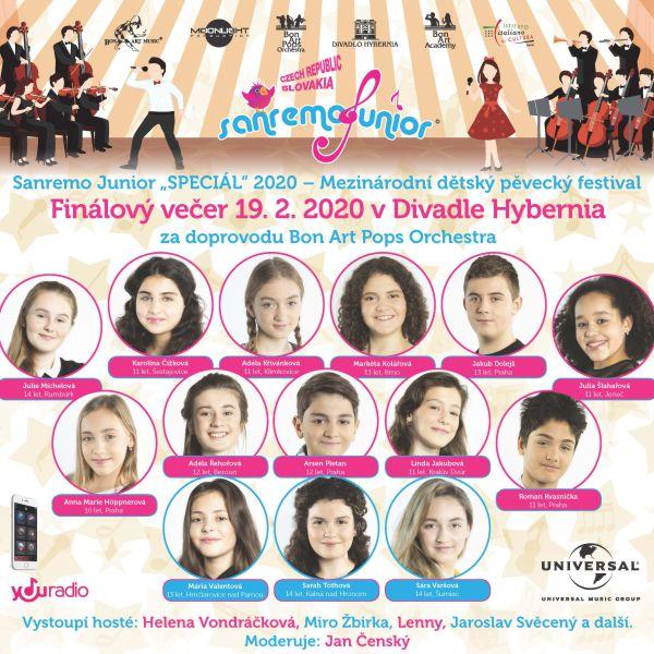 Sanremo Junior CZ/SK - finálový galavečer