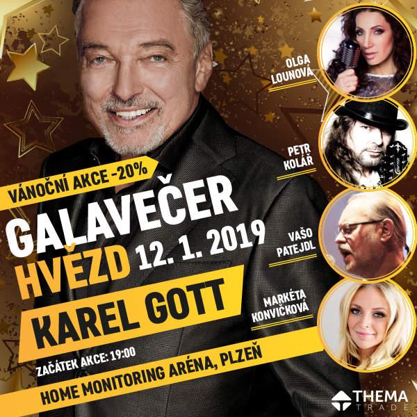 GALAVEČER HVĚZD - Karel Gott, Petr Kolář a další