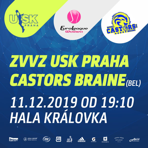 ZVVZ USK Praha - Mithra Castors Braine