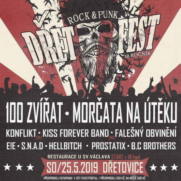 DřetFest open air - 10. ročník rock&punk festivalu