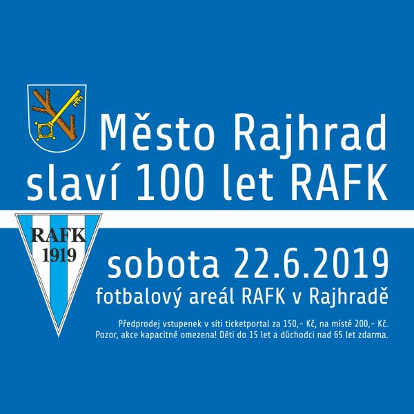 Město Rajhrad slaví 100 let RAFK