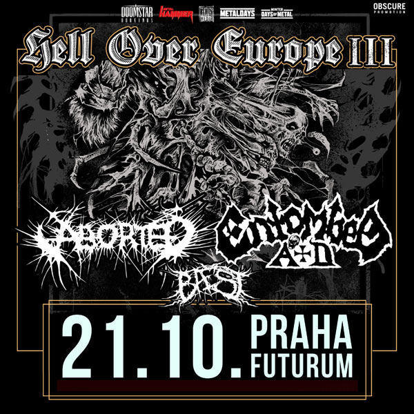 ENTOMBED A.D. (SWE) + ABORTED (BE) + BAEST (DNK)