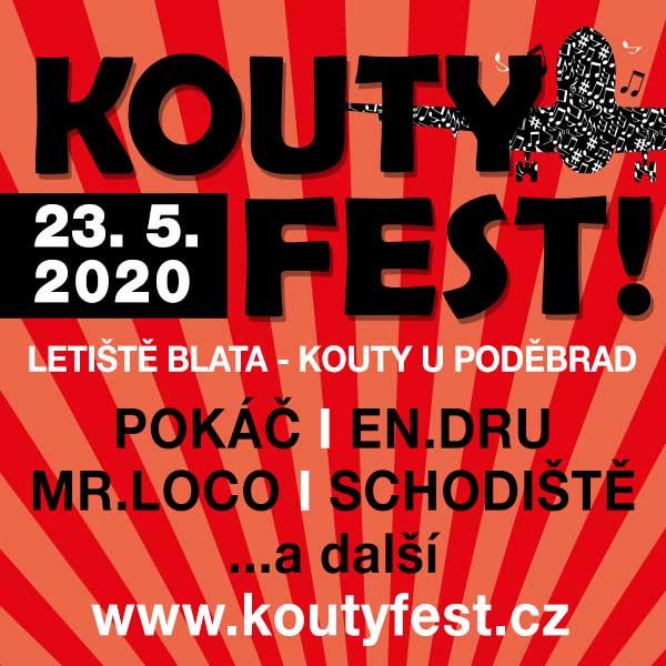 KOUTY FEST 2020- festival v Koutech u Poděbrad- POKÁČ, MR.LOCO, SCHODIŠTĚ, MANIAC a další -Letiště Blata (u Poděbrad, okres Nymburk)- KOUTY