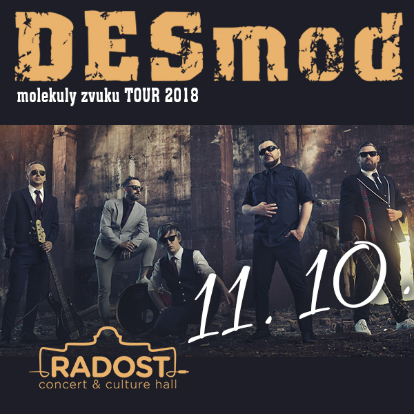DESMOD molekuly zvuku tour 2018