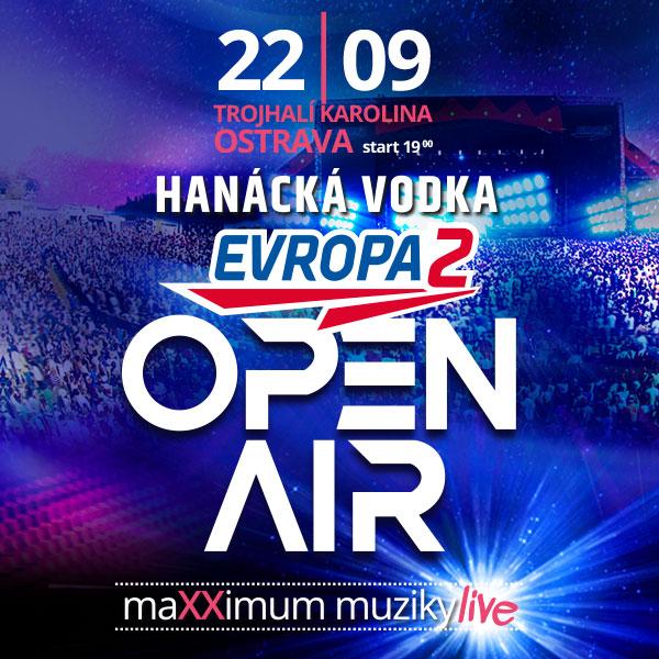 Hanácká vodka Evropa 2 Open Air OSTRAVA