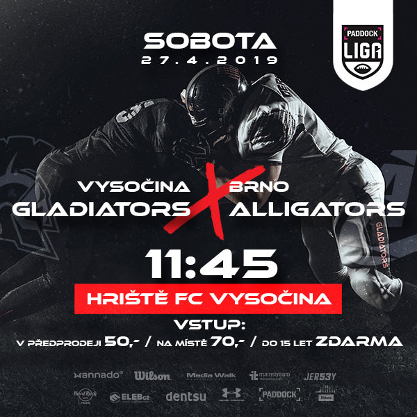 Vysočina Gladiators vs Brno Alligators