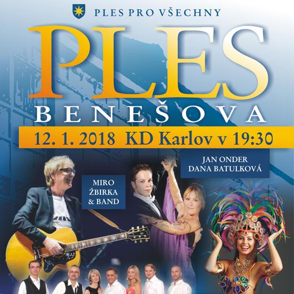 Ples Benešova 2018