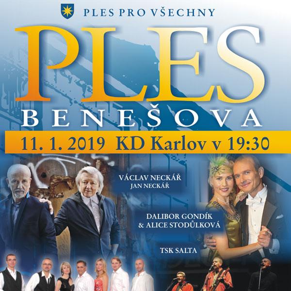 Ples Benešova 2019
